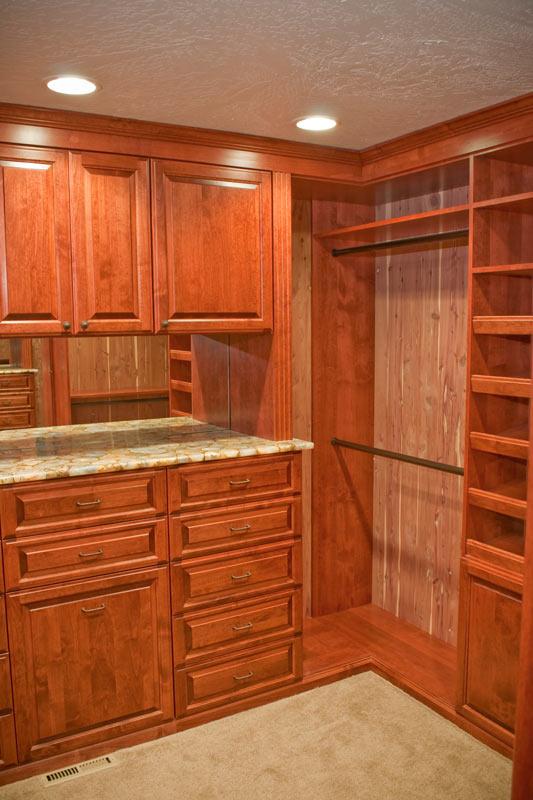Custom Knotty Alder Closet Interior Designer Denver Co