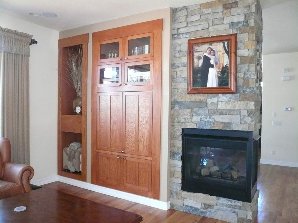 Tallyn S Reach Fireplace Remodel Before After Interior Designer Denver Co