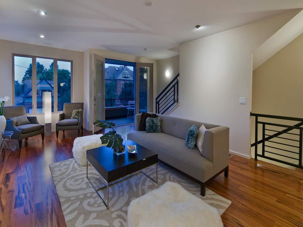 St James Row Living Room Interior Designer Denver Co