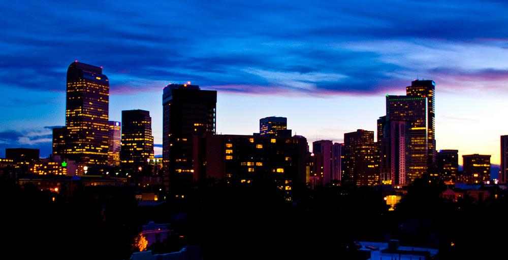 Denver Skyline Rooftop Deck Interior Designer Denver Co